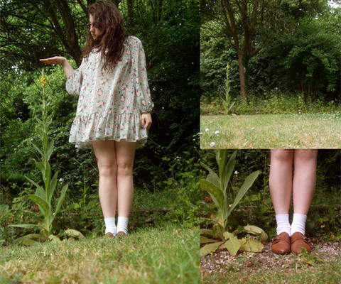 Rebecca Cohen - New Look Floral Smock Dress, Childhood Socks, Topshop Leather Shoes - A dreaded sunny day
