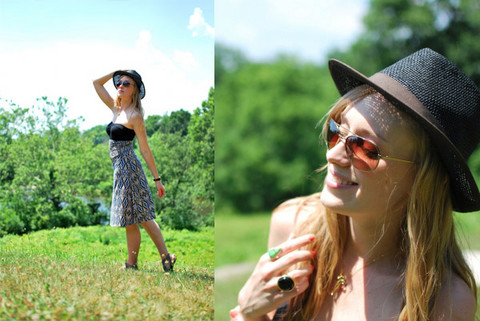 Kimberly Pesch - Urban Outfitters Sun Hat, Forever 21 Tube Top Dress, Lauren Conrad Tube Top, Anthropologie Aviators - Naturalist Scenes