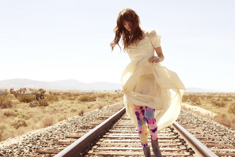 Wild At Heart - Vintage Dress, Jeffrey Campbell Boots, Tights - The biggest obstacle you will ever overcome is yourself.