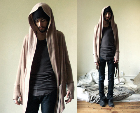 Tony Stone - Rick Owens Tank Top, Rick Owens Top, The Kooples Slim Jean's - Walking in a wood-wood.