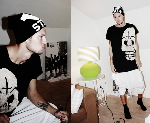 Fredric Johansson - Cheap Monkey Big Tee, Adidas Harem Pants - Cheap Manboy