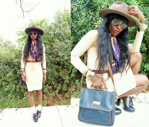 VintageVirgin Jessica - Thrifted Vintage Black Skintight