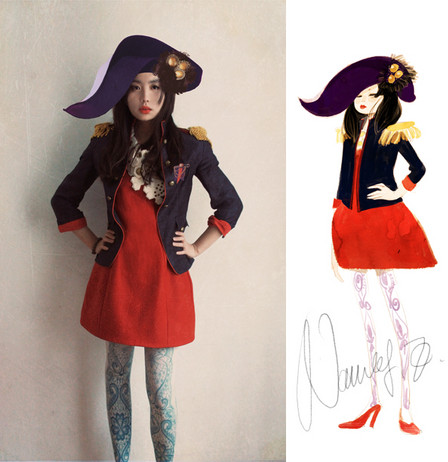 Nancy Zhang - Zara Jacket, Cos Dress - Military Mode