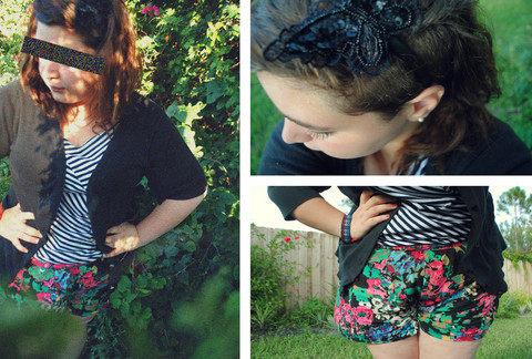 Sara-Anne Blackwell - Forever 21 Striped Swoop Neck., Butterfly Headband., Forever 21 Floral Shorts - It's the end, friend of mine.