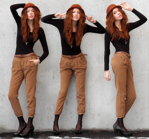 Ebba Zingmark - Zara Pants, Monki Hat - I've got two tickets and a dream.
