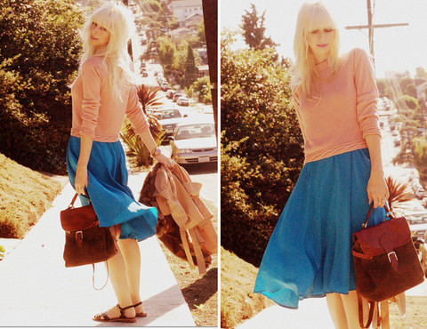 Coury Combs - Vintage Sweater, Dress, & Bag, Rachel Comey Sandals - Do your best and take a rest and sing yourself a song.