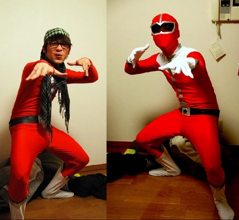 Hanz Go - Don Quijote Red Power Ranger Suit - Everyone once wanted to be a Power Ranger.