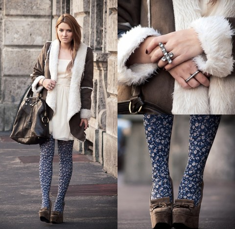 Veronica Ferraro - Zara Tights, Balenciaga Wedges, Forever 21 Rings, Westrags Coat - THROUGH SPACE AND TIME