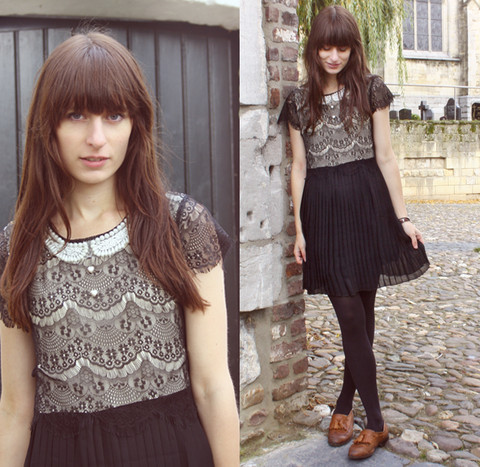 Laura Gommans - Miss Patina Dress, Topshop Loafers - 061110 // theworldlooksred.blogspot.com
