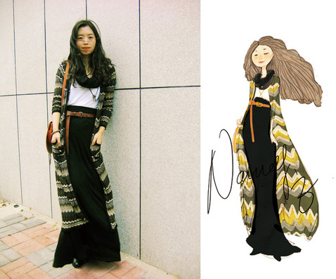 Nancy Zhang - Emanuel Ungaro Cardigan, Asos Maxi Skirt, Cos T Shirt - Holiday in my hometown