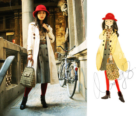 Nancy Zhang - Olive Shoppe Coat - The little red hat