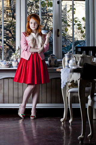 Ioa G - Lachatterie Jacket And Skirt - Gentlemen Prefer Redheads