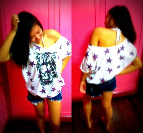 Abi K. - Oversized Shirt, Forever 21 Shorts - 112110