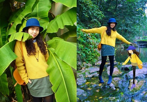 Nancy Zhang - Cos Jumper, Cos Shirt - Traveling in Hangzhou-2