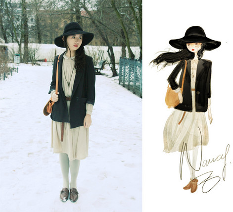 Nancy Zhang - Asos Belt - Footprints Through The Snow.