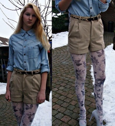 Iris M. - H&M Shorts, Pieces Tights - All that you have is not what you own