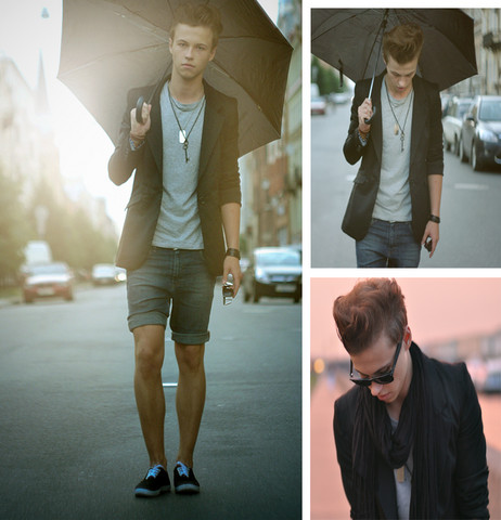 Andrey Koshelev - Pull & Bear Blazer, H&M T Shrit, Topman Shorts - Sun is shining in the sky clear