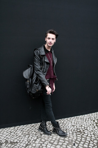 Dustin H. - Zara Backpack, Shoes - First fashion week day