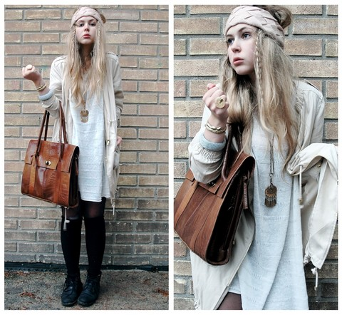 Amanda Brohman - H&M Jacket, Mom's Oversized Sweater, Vintage Tote Bag, H&M Headband - Queen - Bohemian Rhapsody