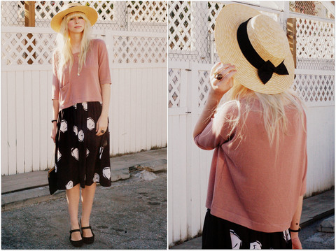 Coury Combs - H&M Sweater, Vintage Skirt, Bag, Hat, Asos Shoes - The book follows her quiet, old-fashioned misadventures.