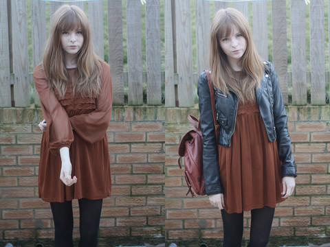 Rebekah D - Topshop Dress, H&M Jacket - Toffee