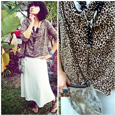 Aimi Baharin - Zara Leopard, Cutton On White, Vincci Glad, Bundle Cat, Swatch Blue - Thinking Eye..