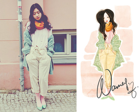 Nancy Zhang - American Apparel T Shirt, See By Chloé Pants - Seeds in my heart.