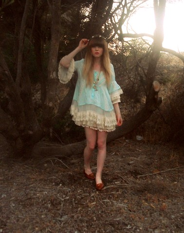 Claire Mcmanus - Dress, Bally Loafers - Strawberry Fields Forever <3