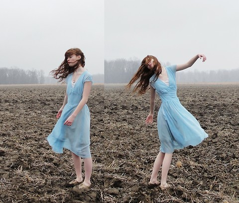 Esther Boller - I Made It Blue Dress, Unknown Necklace - There's a possibility, all that had, is all I gon get...