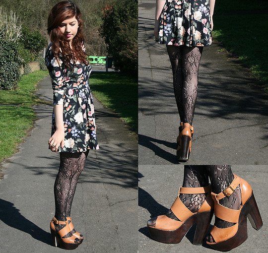 Nadine B - Undefined Floral Dress, Undefined Tights, Topshop Shoes - The Way You Move Ain't Fair You Know