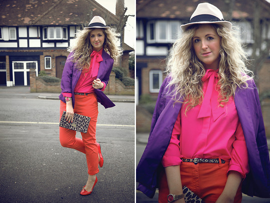 Clare Astra Morris - Tesco Blazer, Vintage Blouse, H&M Trousers - Colour Blocking