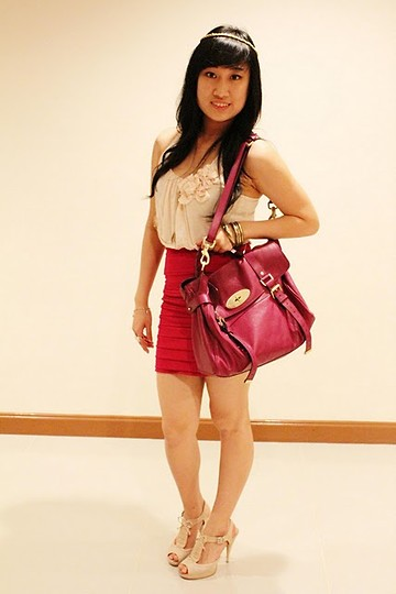 Amelia Andriani - Forever 21 Top, Mulberry Bag, Charles And Keith Heel - Violaceous Grape