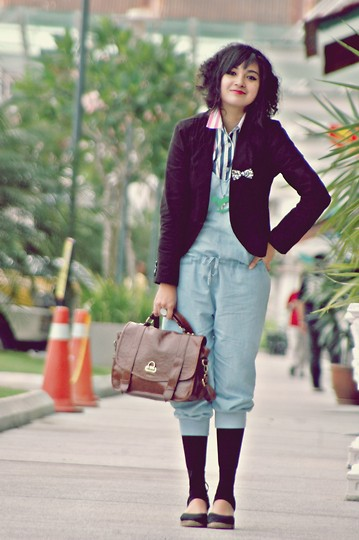 Aimi Baharin - Forever 21 Ribbon Leopard, Vintage - All Day Long! Here I Am.....