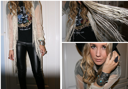 Penelope Sarah - Topshop Leather Skinny Trouser, Designed By Me Crystal Ring - Paradise City