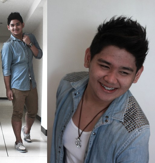 Xavier Cruz - Topman Khaki Shorts, H&M Polo Jeans, Sebago Boat Shoes - One of the Best Days.