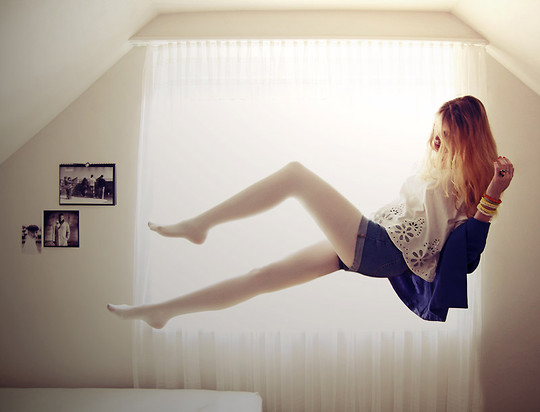 Zuzi * - Iwearsin White Tights, H&M White Top - In my bedroom