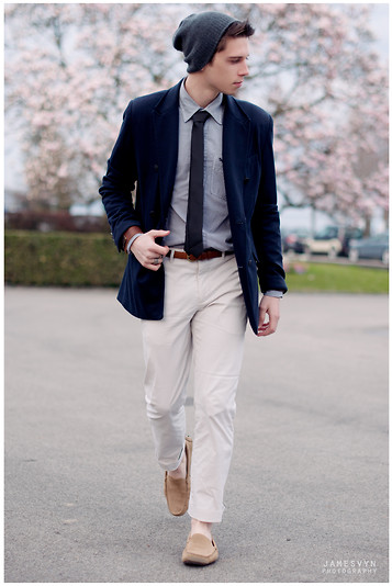 James Vyn - H&M Slim Tie, Zara Blazer, Blue Ink Pants, Loafers - HOPES AND DREAMS