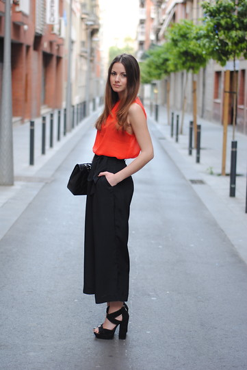 Zina CH - H&M Pants, The Wardrobe Top, Asos Shoes - Orange Rules