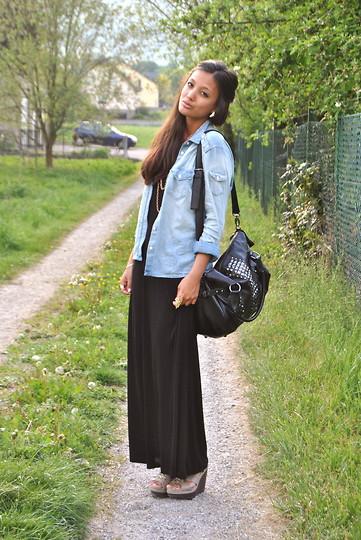 KaoriAnne Jolliffe - H&M Denim Shirt, H&M Maxi Dress - I SEE TREES ...