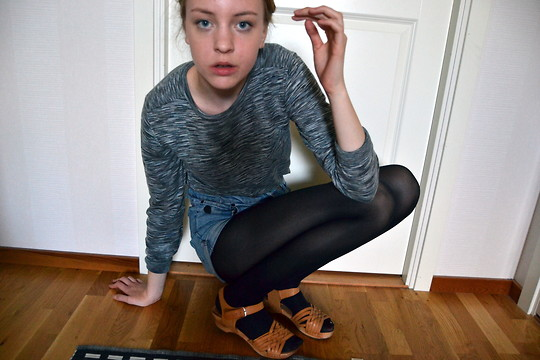 Alice T - Whyred Sweater, Shosho Clogs - OH SADNESS I'M YOUR GIRL