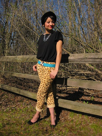 Michelle W - Marc By Jacobs Leopard Print Pants - Lost in the trees