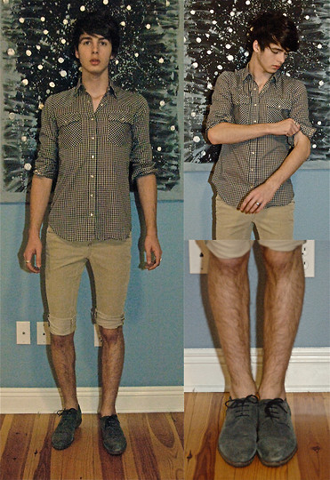 Jonathan Wolf - Dead Woman Shirt, Cut Off Corduroy Shorts, Steve Madden Blue Suede Shoes~ - Deep breathes
