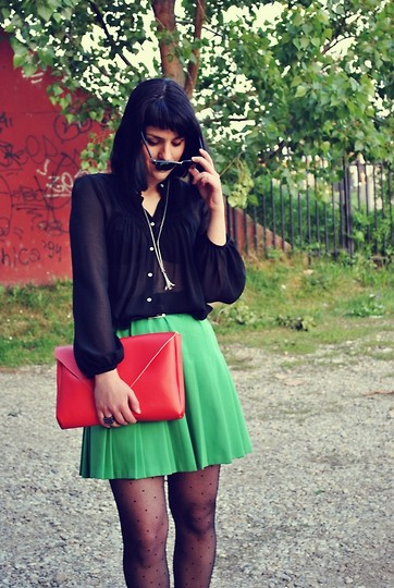 Jovana Dj. - Zara Blouse, Undefined Vintage Skirt, Red Selfmade Bag - R & G