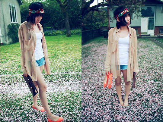 Michelle Zhang - American Apparel Shirts, Urban Outfitters Shoes - Flower road