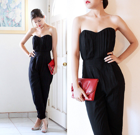 Adriana Gastélum - Asos Black Pleated Jumpsuit, Naturalizer Nude Pumps, Indie Designer Red Rose Clutch, Visit My Blog! - Can you handle one more dirty secret one more dirty night?