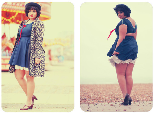Ragini R - Motel Gemma Dress, Primark Horse Print Trench - Brighton Rock