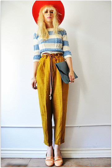 Coury Combs - Vintage Sweet Pea Pant, Vintage Sweet Sailor Sweater, Romwe Clutch, Lulus Belt - Sweetheart, I ask no more than this.