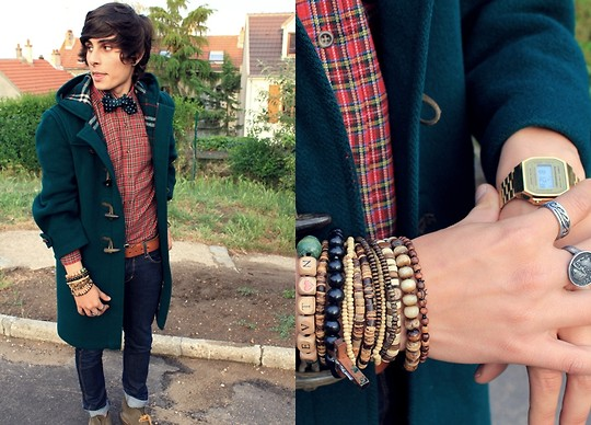 Kevin Andrade - Burberry Coat, Vintage Shirt, Cheap Monday Jean, Clarks Shoes - My Duffle coat