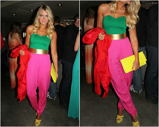 Madelene Billman - Second Hand Corset, Bag And Jacket, H&M Belt, Pants, Zara Shoes - Colour