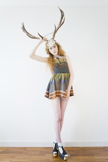 Sophie Bailey - Lauren Moore Dress, Antlers - The human race deserves antlers